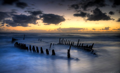 How could he know, this new dawn's light, would change his life forever? (Matthew Stewart | Photographer) Tags: light beach sunrise dawn matthew ss australia brisbane stewart pre qld queensland wreck hdr dicky vosplusbellesphotos
