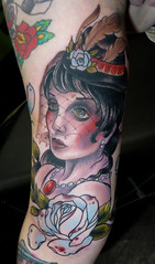 funeral lady (ryanmason) Tags: rose tattoo portland vegan ryan mason tattoos scapegoat ryanmason