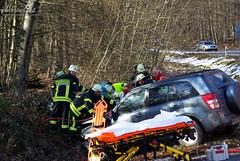 Schwerer Verkehrsunfall B417 14.02.09