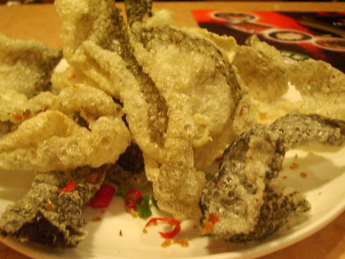 Fried fish skin @ Gold Wonton