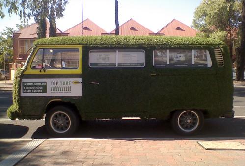 The unmistakeable Top Turf van