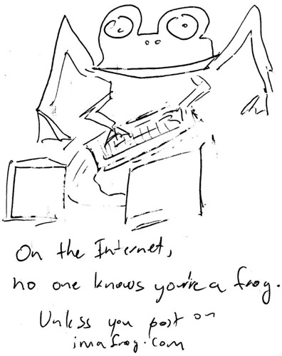 366 Cartoons - 020 - Frog on the Internet