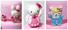 Hello Kitty and friends (Hello Kitty e suas amigas) (Dragonfly Doces) Tags: hello girls roses bunny cake cat for cupcakes sheep display para kitty pasta americana bolo japo meninas gatinha ovelha minibolos coelhinha portacupcakes