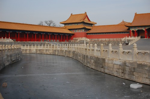 frozen canal in forbidden city