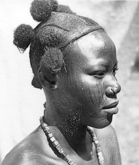 Africa in the early 1940s (gbaku) Tags: pictures africa woman art history hair nose photo necklace women photos native african kunst femme picture hairdo style historic ring photographs photograph afrika historical nosering anthropologie hairstyle nez anthropology scarification femmes necklaces africain afrique ethnography geschichte ethnology africaine ethnologie classicblackwhite afrikas