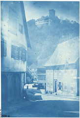 Hornberg, Schwarzwald (Black Forest), Germany (Swedish National Heritage Board) Tags: castles architecture germany 19thcentury blackforest cyanotype streetscapes riksantikvariembetet cianotipo theswedishnationalheritageboard carlcurman