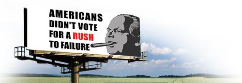 Fascism Watch – Democrat Billboard Attacking Rush Limbaugh