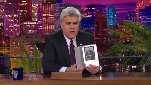 Jay Leno with Kindle by gotkindle.
