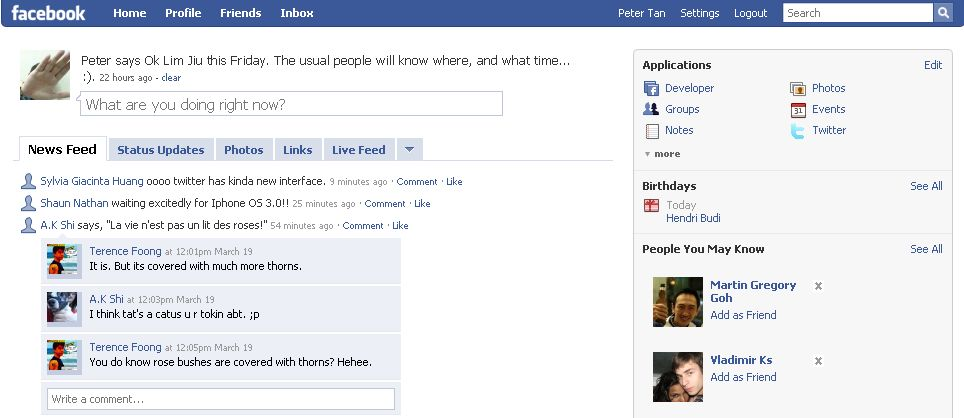 blank facebook page layout. One of them is Facebook.