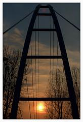The Red Dot (fs999) Tags: bridge sunset soleil pentax coucher pont brcke aficionados k50 vob walferdange pentaxk50mmf12 k5012 k20d ashotadayorso justpentax pentaxk20d topqualityimage flickrlovers topqualityimageonly fs999