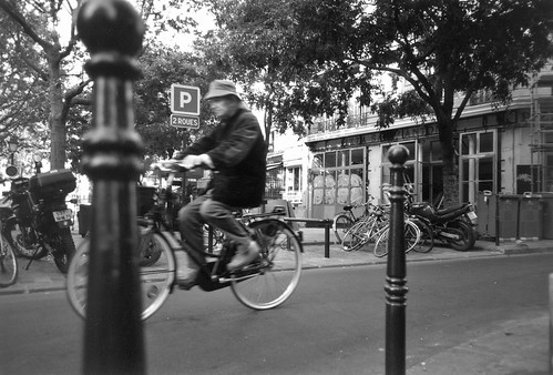 old man on bicycle, Paris