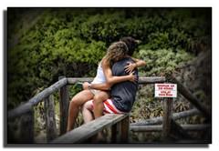 Poetry In Action (mliebenberg) Tags: people holiday love beach southafrica hugging hug couple poetry lovers poems jbay jefferys