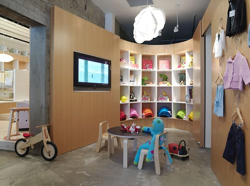 Interior room playground with the theme of the store