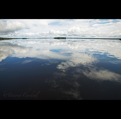 one third - Amazonas ( Tatiana Cardeal) Tags: travel brazil sky reflection nature water gua brasil digital river amazon horizon dream 2009 amazonas amazonia amazonie rionegro immensity agenda21  waterresources   transboundarywaters