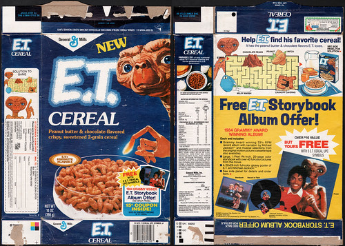 General Mills - E.T. Cereal box - Storybook Album offer - 1984