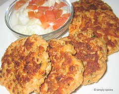 Dilled Salmon Cake by simplyspices