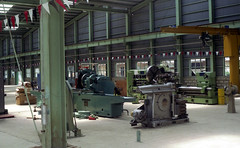 Philippine National Railways (PNR) lathes and other equipment and tools in the workshops in Kaloocan City, Manila, Philippines. (express000) Tags: philippines workshops philippinenationalrailways lathes pnr railwayworkshops plantequipment kaloocanrailwayworkshops caloocanrailwayworkshops kaloocanmanilaphilippines kaloocanmanila