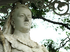 Close up of Queen Victoria