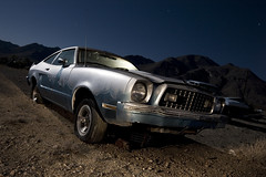 Flexing My Muscle Once Again (codywbratt) Tags: california abandoned car night digital canon desert decay mojave 5d rusting fordmustang 2009 1635 pearsonville