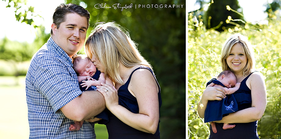 portland oregon family portrait photographer with newborn baby