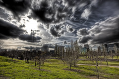 The Day After (WilliamBullimore) Tags: city trees clouds buildings cityscape australia melbourne victoria queensland hdr albertpark colourartaward atomicaward