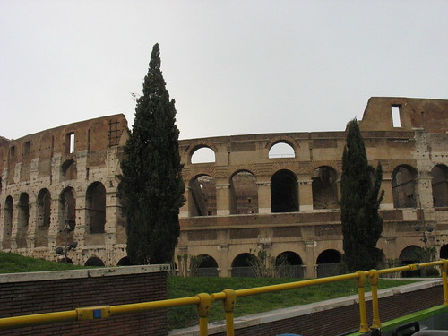 The Colosseum from our tourbus