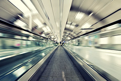 high-speed (wecand) Tags: city motion blur art architecture airplane airport nikon frankfurt elevator sigma rail 1020mm rolltreppe bewegungsunschrfe schwindel hypnose rollband wecand stadtgetty2010 gettyimagesgermanyq1