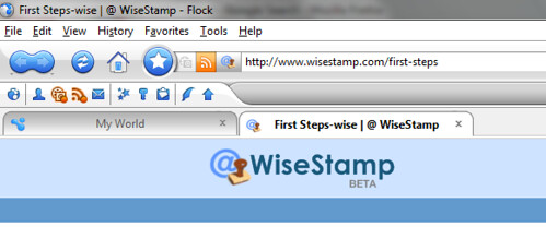 WiseStamp Flock Addon Screenshots