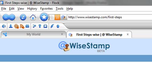 WiseStamp Flock Addon Screenshots