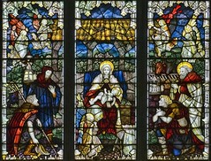 St Michael's, Hallaton, Leicestershire (Lord Muttley McFester) Tags: city windows baby church window glass nikon christ leicestershire mary jesus birth stainedglass stained kings angels stable wheatsheaf hallaton epiphany shepherds kempe vv1 d700 charleseamerkempe