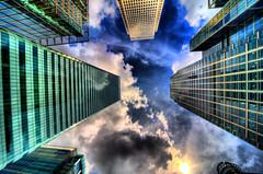 (THE VILLA GROUP) Tags: city sky london art glass architecture skyscraper photoshop buildings photography photo nikon dino photos towers handheld docklands noiseninja canarywharf hdr offices d3 cs3 photomatix nikonlens tonemapping photoshopcs3 detailsenhancer nikond3 topazsharpener
