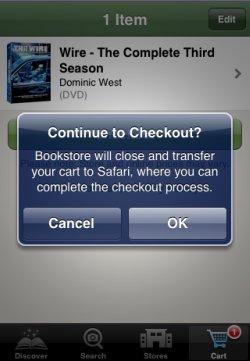Barnes & Noble app checkout
