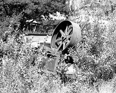 Rusty Machine (chumlee10) Tags: car wheel wisconsin belt junk rust midwest machine scrap wi