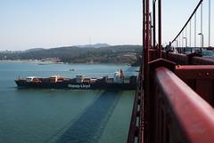 a ship came into the harbor (danemery) Tags: sanfrancisco bay ride brigde
