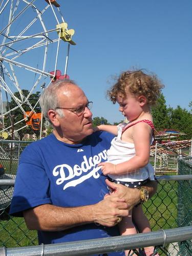 Enjoying time with Papa