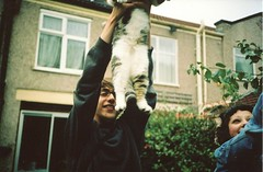 Ernie (Adele M. Reed) Tags: cat 35mm fun nikon super lucky pete bankholiday loz l35 overfriendly