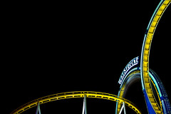 Teststrecke (anauhu) Tags: longexposure night nuremberg fair rollercoaster looping canonef2470mmf28lusm teststrecke volksfest