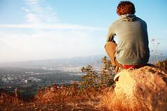 Hollywood (ChelseaVance) Tags: california blue boy sky mountain sign photography rocks chelsea view jake florida hike cliffs hills hollywood sarasota vance borelli