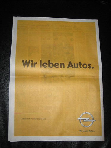 """欧宝调整车标并推出全新品牌口号""""Wir leben Autos"""""""