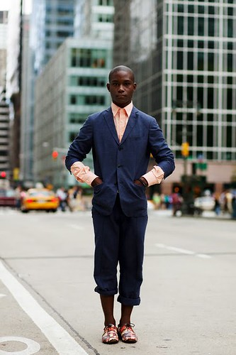The photo of this very dapper looking fellow comes from thesartorialist.blogspot.com.  Damn this cat looks fly!