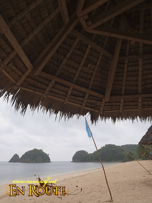 Twin Rock Under the Hut View