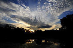Glorious Sunset (CPSanford Photography) Tags: trees sunset sky sun ny nature water clouds reflections ithaca plantations