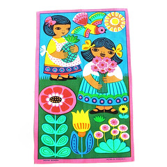 1960s flower garden tea towel (Wooden donkey) Tags: vintage mod cloth