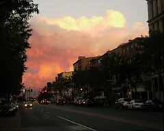 Market Street sunset (moocatmoocat) Tags: street sunset color philadelphia clouds cityscape market east