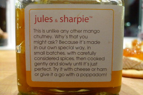 Jules and Sharpie Very Hot Mango Chutney
