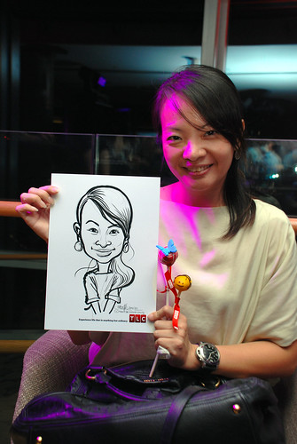 Caricature live sketching for TLC - 18