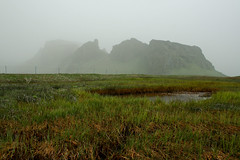 Volcanic Ash (karitasg) Tags: mountains green glass fog volcano iceland pond gray glacier ash eruption
