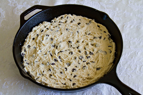 Cast Iron Skillet Chocolate Chip Cookie - 5