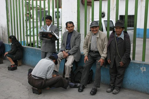 Local gangsters in Ambato...
