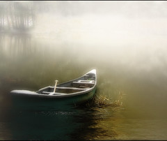 Stowe Away (Anne Strickland) Tags: ~amabile~ stowevermont canoe fog canon40d withgreatsoul littlestoriespicswithsoul youarewonderfulphotographer just imagine justimagine fivestarsgallery the4elements availablethroughgettyimages